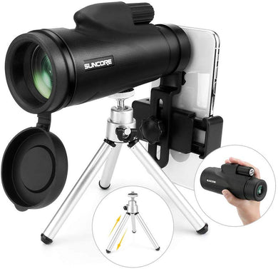 Monocular Telescope High Power Monocular Telescope for Adults and Kids with Tripod and Smartphone Holder