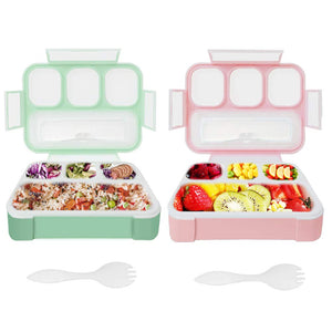 2 Pack Bento Boxes for Kids Qinner Lunch Box for Children