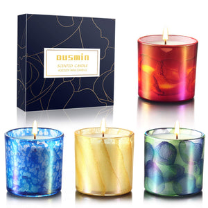 Scented Candles Gift Set Portable Travel Glass Candle