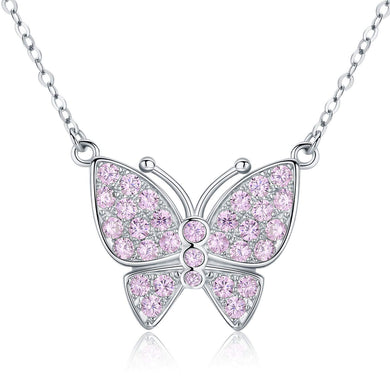 925 Sterling Silver Butterfly Pendant Necklace for Women Jewellery Gifts