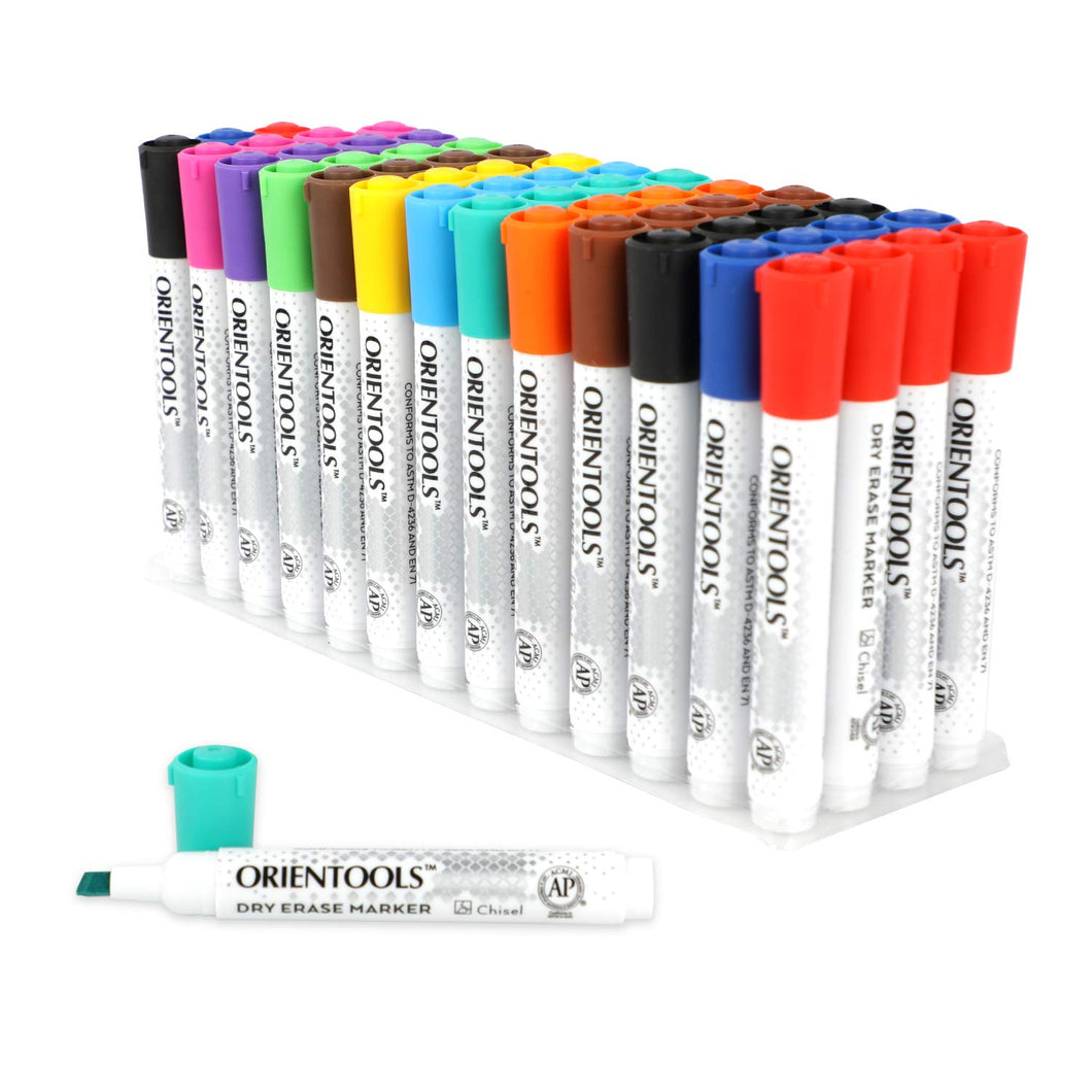 12 Assorted Colors Bulk Pack of 52 Dry Erase Markers