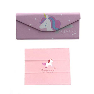 Cute Printed PU Leather Eyeglass Case Magnet Closure Sunglasses Protective Case