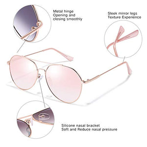 Classic Aviator Sunglasses for Women Men UV400 Sun Glasses Metal Frame Shades