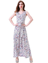 Load image into Gallery viewer, Women's Bohemian Sleeveless V Neck Faux Wrap Long Floral Maxi Dress