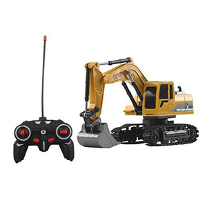 1:24 Four-Wheel Drive Crawler Excavator Remote Control Car Toy Educational with Light Toy Gift for Kids