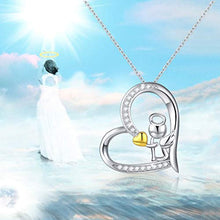 Load image into Gallery viewer, Guardian Angel Necklace for Women Daughter Lovers,18K Gold Plated Heart with Angel Wing Pendant Necklace - You are Never Alone with My Angel Jewelry Gift