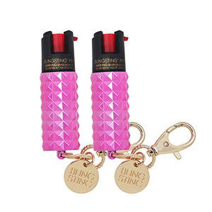 Pepper Spray Keychain for Women Professional Grade Maximum Strength OC Formula 1.4 Major Capsaicinoids 12 Ft Effective Range Accurate Stream Self-Defense Accessory Designed for Women