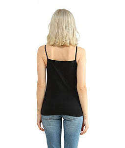 Spaghetti Strap Cotton Camisole for Women, Stretchy Basic Tank top