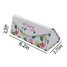 Load image into Gallery viewer, Cute Printed PU Leather Eyeglass Case Magnet Closure Sunglasses Protective Case