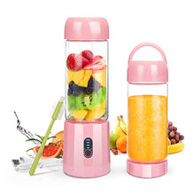 Load image into Gallery viewer, Personal Portable Blender with 480ml Travel Bottle, USB Rechargeable Single Served Smoothie Blender Six Blades in 3D Superb Mixing Personal Size Mixer Fruit Juicer Blender for Shakes and Smoothies