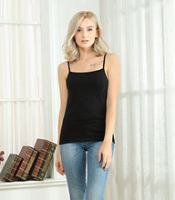 Load image into Gallery viewer, Spaghetti Strap Cotton Camisole for Women, Stretchy Basic Tank top