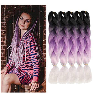 Braiding Hair 5 piece/lot 24 inch Braids 100g/piece Synthetic ombre Fiber Hair Extensions crochet braids …
