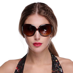Women's Retro Style Shades Oversized Designer Lens Outdoor Driving Sunglasses