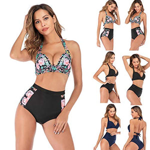 Women Summer Bikinis Set Split Two-Piece Swimsuit High Waist Swimwear Sets