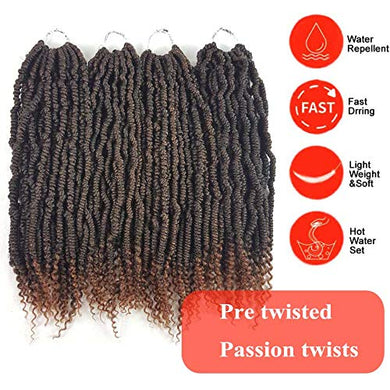 18 inch Senegalese Pre Twisted Spring Twists Crochet Hair Curl