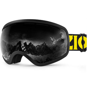 Ski Snowboard Snow Goggles for Men Women Youth Anti-Fog UV Protection Helmet Compatible