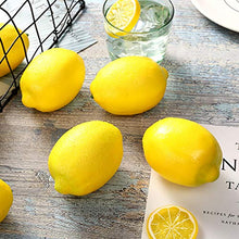 Load image into Gallery viewer, 12pcs Fake Lemons, Faux Lemon Plastic Artificial Lemon for Home Kitchen Table Cabinet Party Decor Photography Prop, Yellow and Green