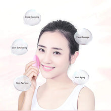 Load image into Gallery viewer, Sonic Silicone Facial Cleansing Brush Rechargeable IPX7 Waterproof Facial Cleaner