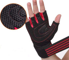 Load image into Gallery viewer, Ventilated Weight Lifting Gloves – Gym Workout Gloves - Full Palm Protection – Built-in Wrist Wraps-Ideal for Pull Ups, Weightlifting, Fitness.