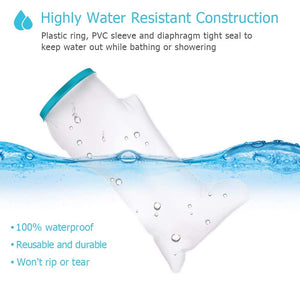 Adult Waterproof Leg Cast Cover for Shower Bath, Cast Protector Keep Cast Wound Covers Bandage Dry