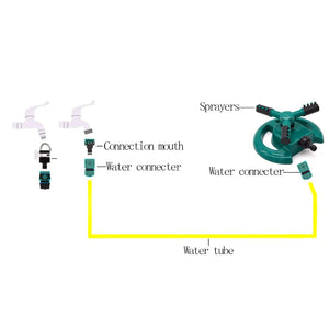 Lawn Sprinkler, Durable Rotary Three Arm Water Sprinkler,Garden Sprinkler, Water Sprinkler, Premium Quality with ABS Base