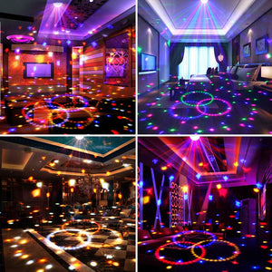 Disco Ball Party Lights,Sound Activated Disco Lights with Remote Control