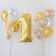 Load image into Gallery viewer, 30 Pieces 12 Inches Latex Balloons Confetti Balloons for Wedding Birthday Party Decoration (Silver and Gold)
