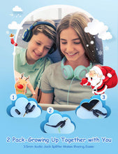 Load image into Gallery viewer, Kids Headphones (2-Pack), Foldable Wired Cord On-Ear Headsets, Safety Volume Limited, Comfortable and Durable