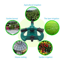 Load image into Gallery viewer, Lawn Sprinkler, Durable Rotary Three Arm Water Sprinkler,Garden Sprinkler, Water Sprinkler, Premium Quality with ABS Base