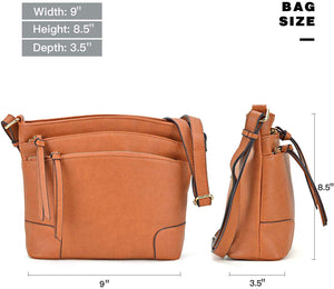 Women Multi Pockets Crossbody Messenger Bags Shoulder Purses and Satchels Handbags With Tassels