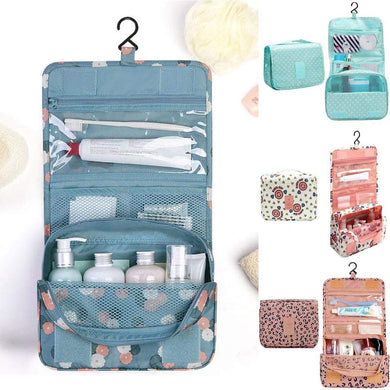 Portable Multifunction Hangable Wash Bag Travel Cosmetic Storage Bag With Hook Toiletry Bags