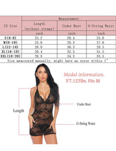 Load image into Gallery viewer, Women Lace Chemise Lingerie Sexy Deep V Halter Teddy Babydoll Sleepwear S-XXL