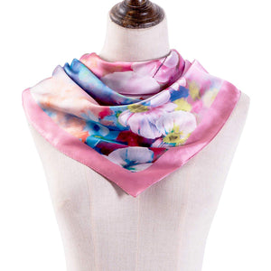 "100% Silk Scarf - Gift Box Packaged 35"" Square or Oblong Large Silk Hair Scarf Wrap"