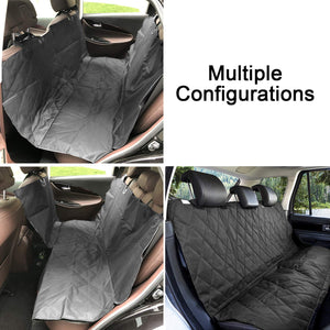 100% Waterproof Anti-Scratch Dog Pet Car Seat Cover Mat,Universal Fit Vehicle Rear-seat