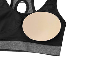 Women Seamless Sports Bras with Removable Pads Mesh Straps