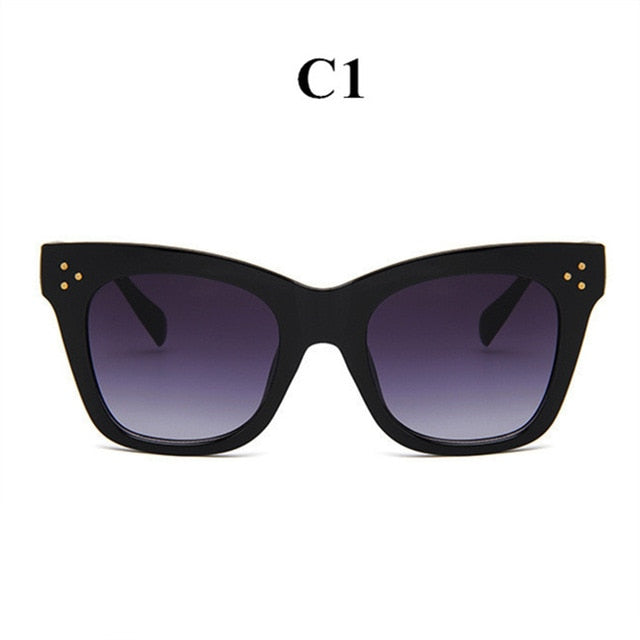 Classic Cat Eye Sunglasses Women Vintage Oversized Gradient Sun Glasses Shades Female Luxury Designer UV400 Sunglass