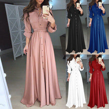 Load image into Gallery viewer, Vestidos De Festa Elegant Autumn Winter Casual Dresses Cheap Long Sleeve A-Line Formal Dresses 2019 Long Party Gown
