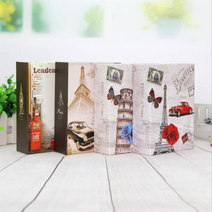 100 Pockets 4x6 inch Travel Photo Albums Interleaf Type Tower Pattern Paper Printed Cover Vintage Retro Albums