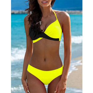 2019 Sexy Bikini Swimwear Women Swimsuit Push Up Bikinis Women Bathing Suit Biquini Brazilian Bikini Set Solid Beachwear Female