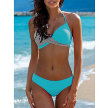 Load image into Gallery viewer, 2019 Sexy Bikini Swimwear Women Swimsuit Push Up Bikinis Women Bathing Suit Biquini Brazilian Bikini Set Solid Beachwear Female