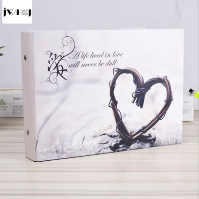 1 pcs Longing for love 10 inch Photo Album Lovers wedding Photos family Memory Record Album Handmade Sticky Type scrapbooking