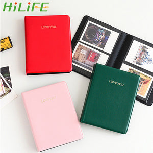 Photography Albums Polaroid Photo Albums For Instax Mini Film 8 Mini Instant Picture Case Storage 64 Pockets  3 inch