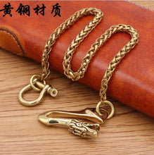 Load image into Gallery viewer, Fashion Men Boy Punk Hip hop Brass Belt Waist Chain Multilayer Male Pants Chain Jeans Punk gold Metal Big Ring Pants Chains