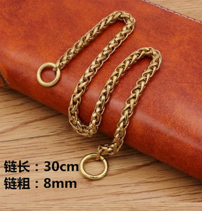 Fashion Men Boy Punk Hip hop Brass Belt Waist Chain Multilayer Male Pants Chain Jeans Punk gold Metal Big Ring Pants Chains