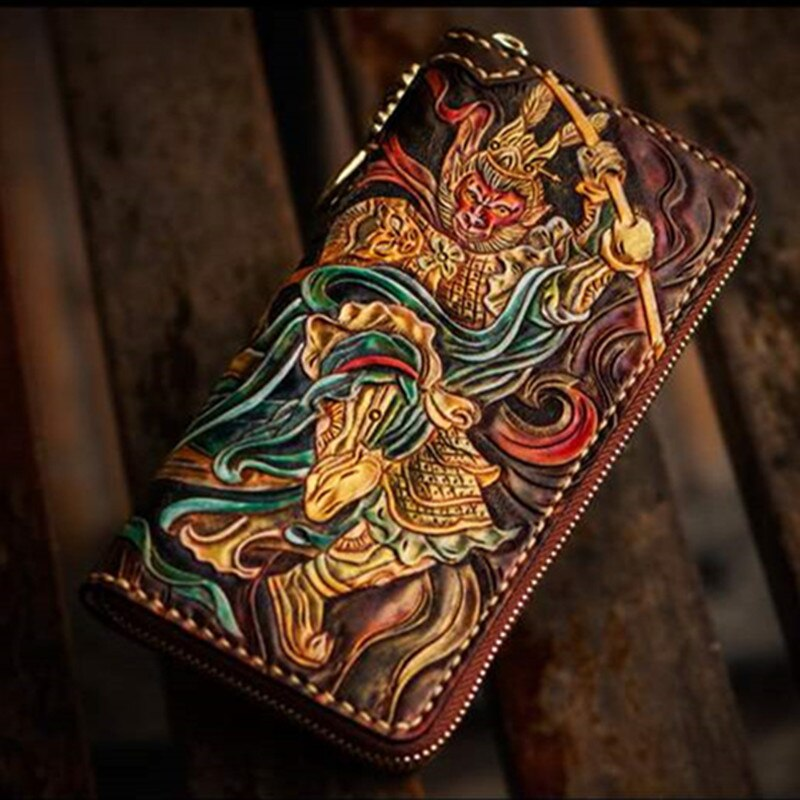 Vintage Samurai Handmade Leather Wallet