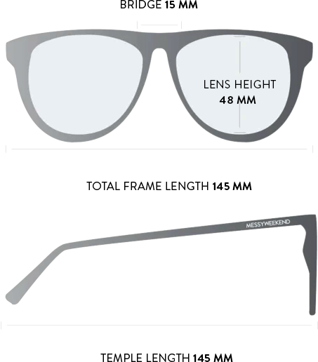 louie sunglasses measurements
