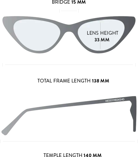 Norma sunglasses measurements