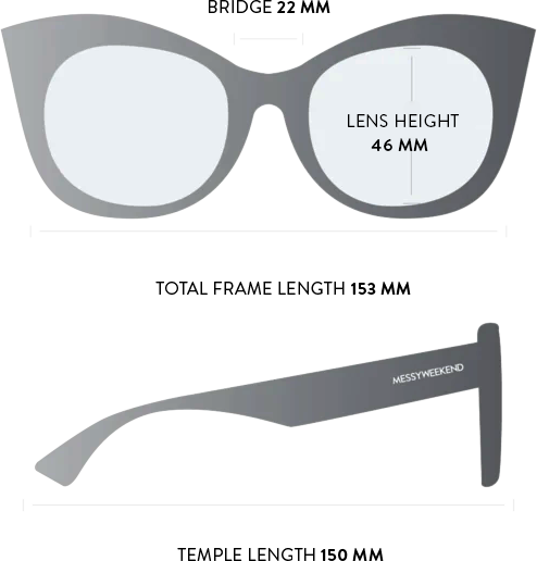 Thelma sunglasses measurements