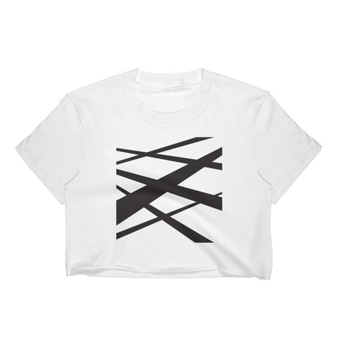 Graphic Lines Women's Crop Top