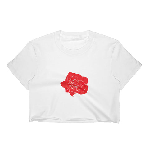 Single Rose Women's Crop Top